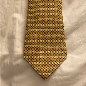 Hermes Gold tie with black detail